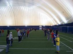 Drills in the Husky dome